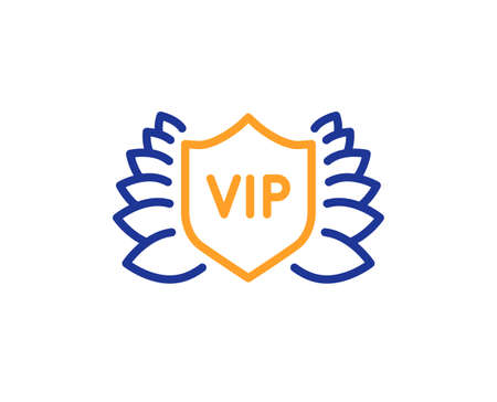 Vip security line icon. Very important person protection sign. Member club privilege symbol. Colorful thin line outline concept. Linear style vip security icon. Editable stroke. Vector