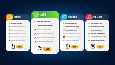 Quick tips, Group and Partnership line icons set. Pricing table, subscription plan. Startup sign. Helpful tricks, Managers, Business startup. Developer. Education set. Vector Illustration