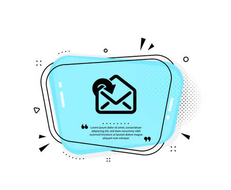 Receive Mail download icon. Quote speech bubble. Incoming Messages correspondence sign. E-mail symbol. Quotation marks. Classic receive Mail icon. Vector Çizim