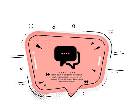 Message icon. Quote speech bubble. Chat comment sign. Speech bubble symbol. Quotation marks. Classic message icon. Vector