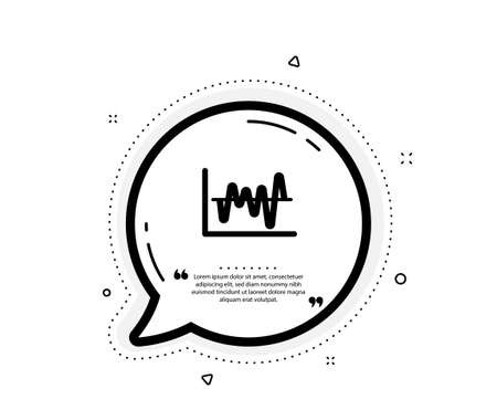 Investment chart icon. Quote speech bubble. Economic graph sign. Stock exchange symbol. Business finance. Quotation marks. Classic stock analysis icon. Vector Ilustracja