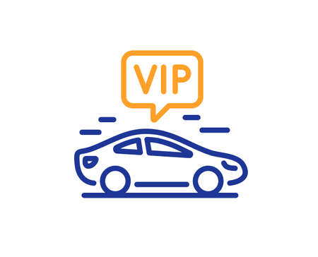 Vip transfer line icon. Very important person transport sign. Luxury taxi symbol. Colorful thin line outline concept. Linear style vip transfer icon. Editable stroke. Vector
