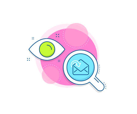 Incoming Messages correspondence sign. Research complex icon. Receive Mail download line icon. E-mail symbol. Analytics or analysis banner. Receive Mail sign. Vector