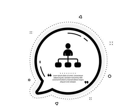 Management icon. Quote speech bubble. Business strategy sign. Development symbol. Quotation marks. Classic management icon. Vector Illustration