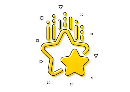 Star rating sign. Ranking stars icon. Best rank symbol. Yellow circles pattern. Classic ranking stars icon. Geometric elements. Vector Vectores
