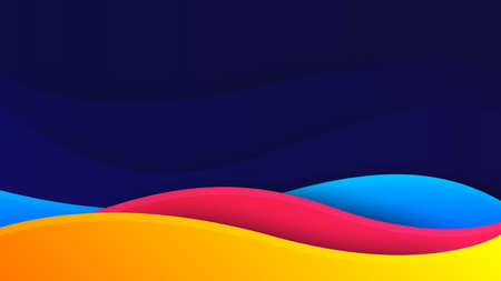 Wave background. Digital frequency stripe. Waved lines for brochure and flyer design. Dynamic liquid wave. Curved wavy line. Vector gradient background