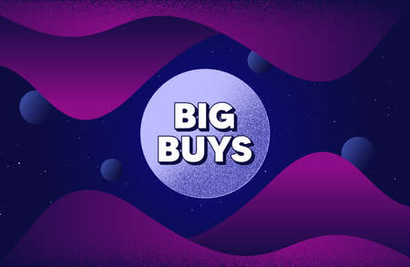 Big buys. Abstract background with dotwork shapes. Special offer price sign. Advertising discounts symbol. Dotted offer message banner. Abstract space background. Design with dots. Vector