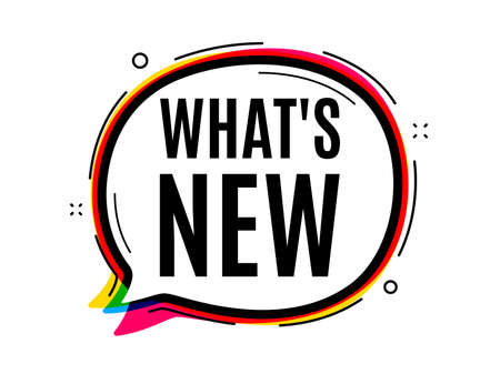 Whats new symbol. Speech bubble vector banner. Special offer sign. New arrivals symbol. Thought or dialogue speech balloon shape. Whats new chat think bubble. Infographic cloud message. Vector