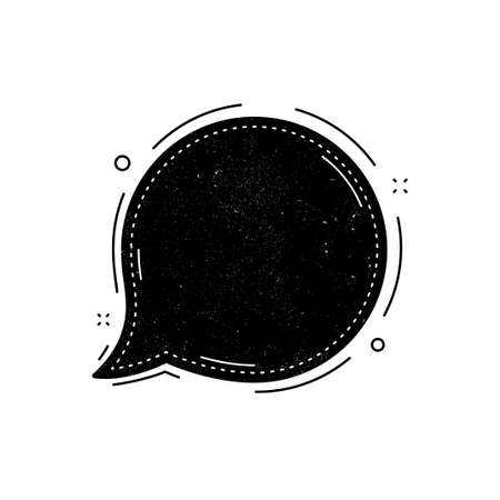 Speech bubble icon. Grunge distress stamp balloon. Chat message sign. Talk, speak symbol. Communication balloon template. Support or contact icon. Talking, thinking chat bubble. Thought sign. Vector