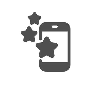 Best app icon. Phone ratings sign. Ranking symbol. Quality design element. Flat style best app icon. Editable stroke. Vector
