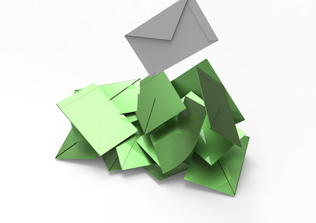 candidates: Selection envelopes and votes 3D Stock Photo