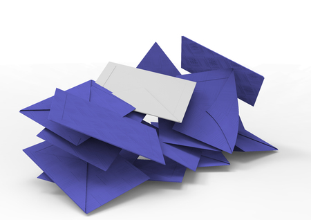 Selection envelopes and votes 3D Stock Photo