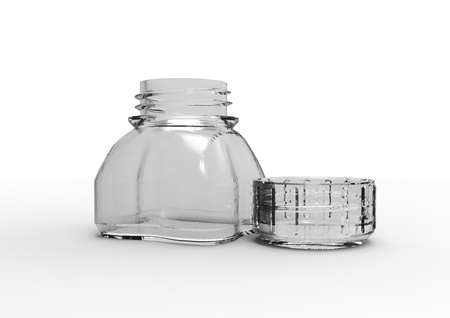 small Glass bottle  isolate 3D