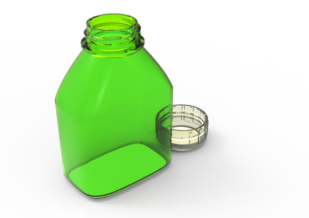 colored bottle: Glass bottle  isolate 3D colored Stock Photo