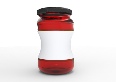 mason: Glass jar package 3D colored