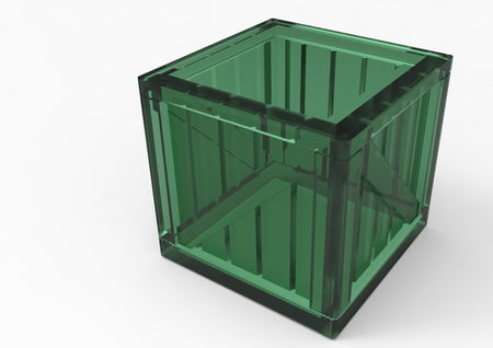 storage box: Frame Wooden Box 3D isolate Stock Photo