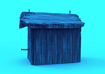 3D render isolate bird house  wooden house