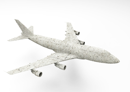 3D render air plane isolate
