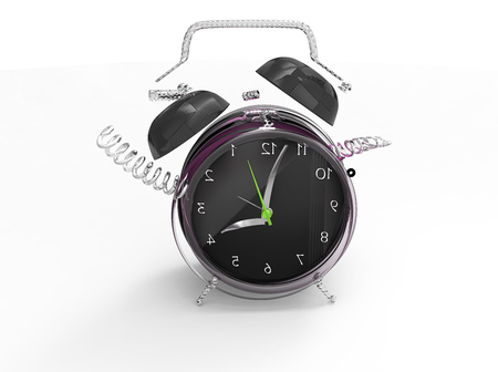 subculture: Fragmented clock or crazy clock 3D Stock Photo