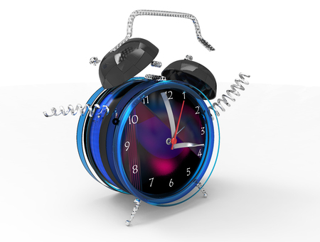 Fragmented clock or crazy clock 3D Stock Photo