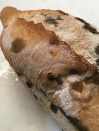 Moldy bread texture