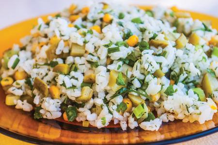 chinese rice background unit isolate Stock Photo
