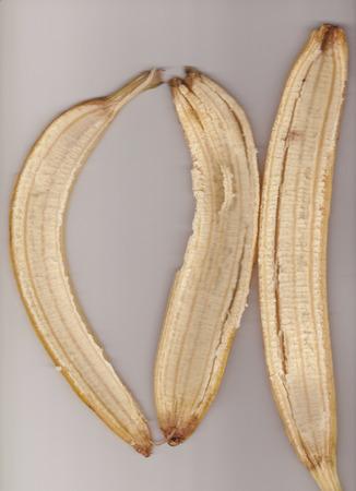 banana skin: banana background unit isolate Stock Photo