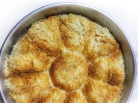 kadayif dessert background unit isolate