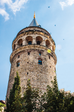 Galata tower background pattern