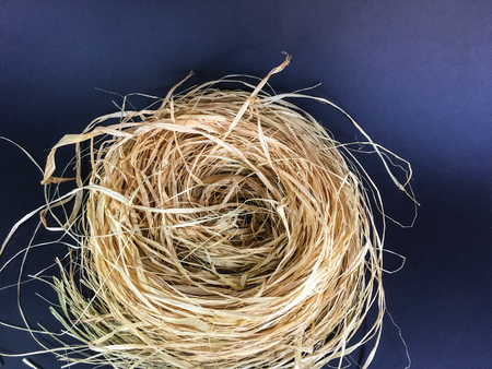 straw from bird's nest background unit isolate