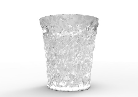 crystal coasters 3D isolate background Stok Fotoğraf
