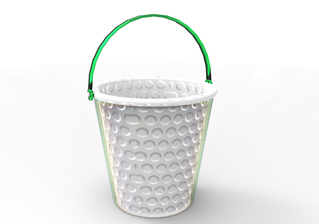 bucket 3D isolate background