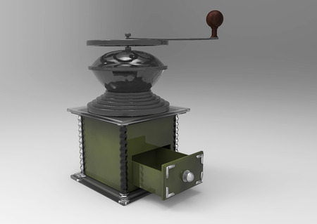 coffee Mill 3D isolate background