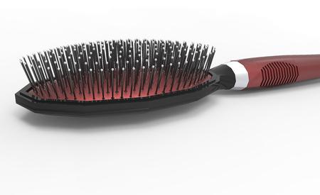 hair brush 3D isolate background