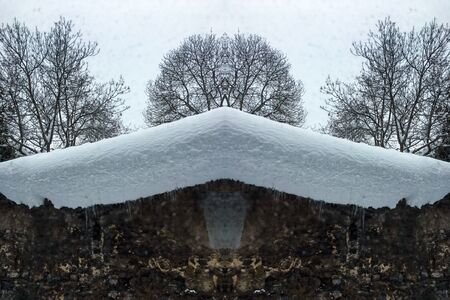 outdoors snow isolate background Stok Fotoğraf - 132404997