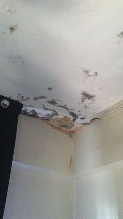 rotten ceiling isolate background Stock Photo