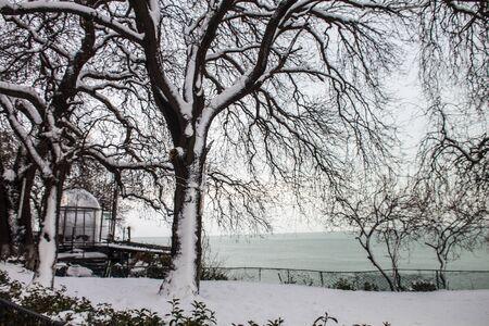 outdoors snow isolate background Stok Fotoğraf - 132405088