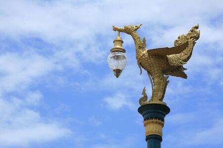 Beautiful Gold Bird Lamp on the street Stock Photo - 10307370