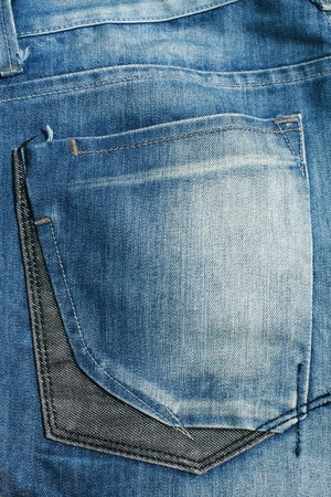 Detailed Texture: background of abstract back pocket  blue jeans