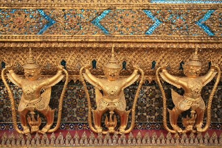 Ornament: garuda decorations on the wall at Wat Phra Kaew, Thailand  Stock Photo - 11815917