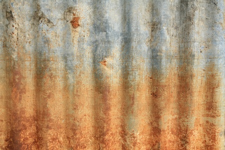 damaged roof: Textured background: grunge rusty zinc pattern