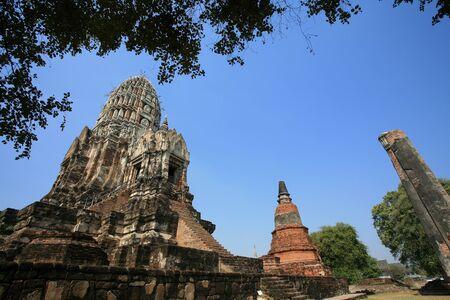 Ornament: ancient pagodas at Wat Rajburana in Ayutthaya, Thailand  Stock Photo - 11972893
