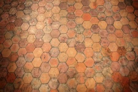 Background: orange stone pavement pattern  Stock Photo