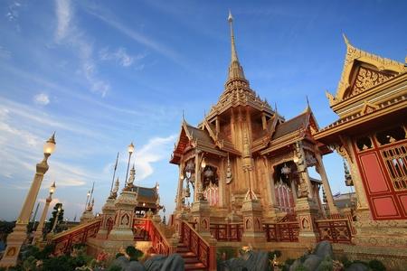 bejaratana: Ornament  beautiful architecture of Royal funeral pyre for cremation ceremony of the HRH Princess Bejaratana Rajasuda , princess of Thailand