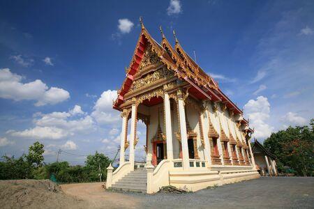 nonthaburi province: Huge Buddhist temple architecture near construction area in Nonthaburi province, Thailand