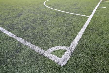 Corner spot at fake grass soccer field  Stock Photo - 13889201