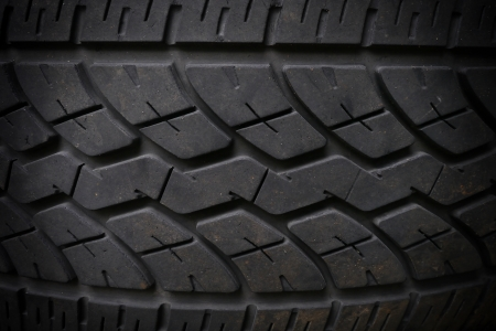 Closeup of black tire texture  photo