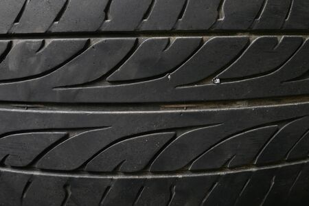 New closeup black tire texture photo