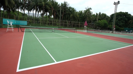 Several tennis courts photo
