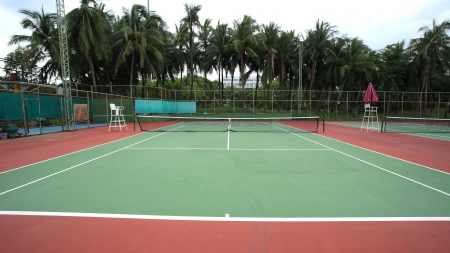 Outdoor tennis hard court
